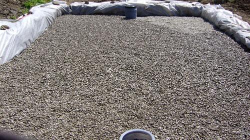 Fosse septique avec filtre à sable non drainé