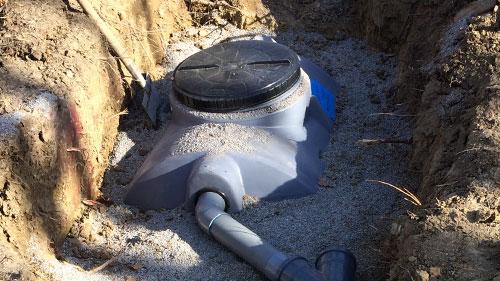 Fosse septique avec filtre à sable